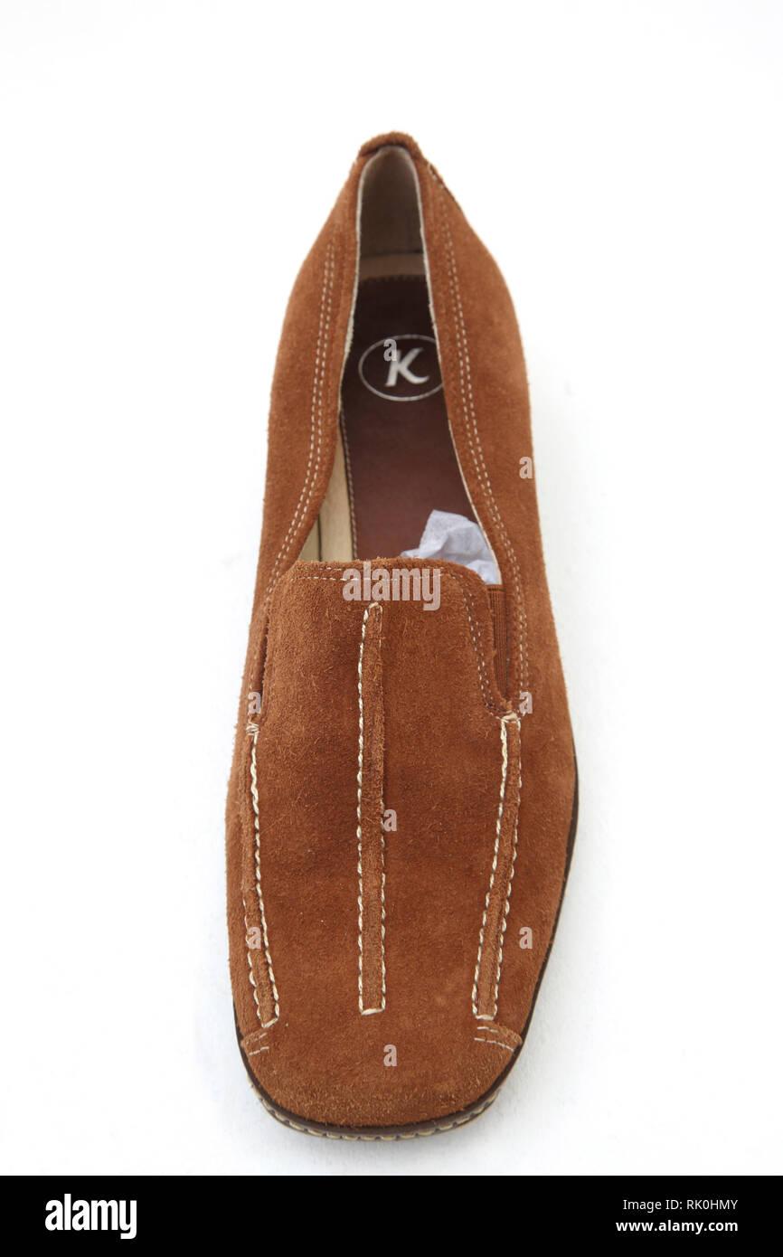 Eine Tan Leder Schuh Stockbild