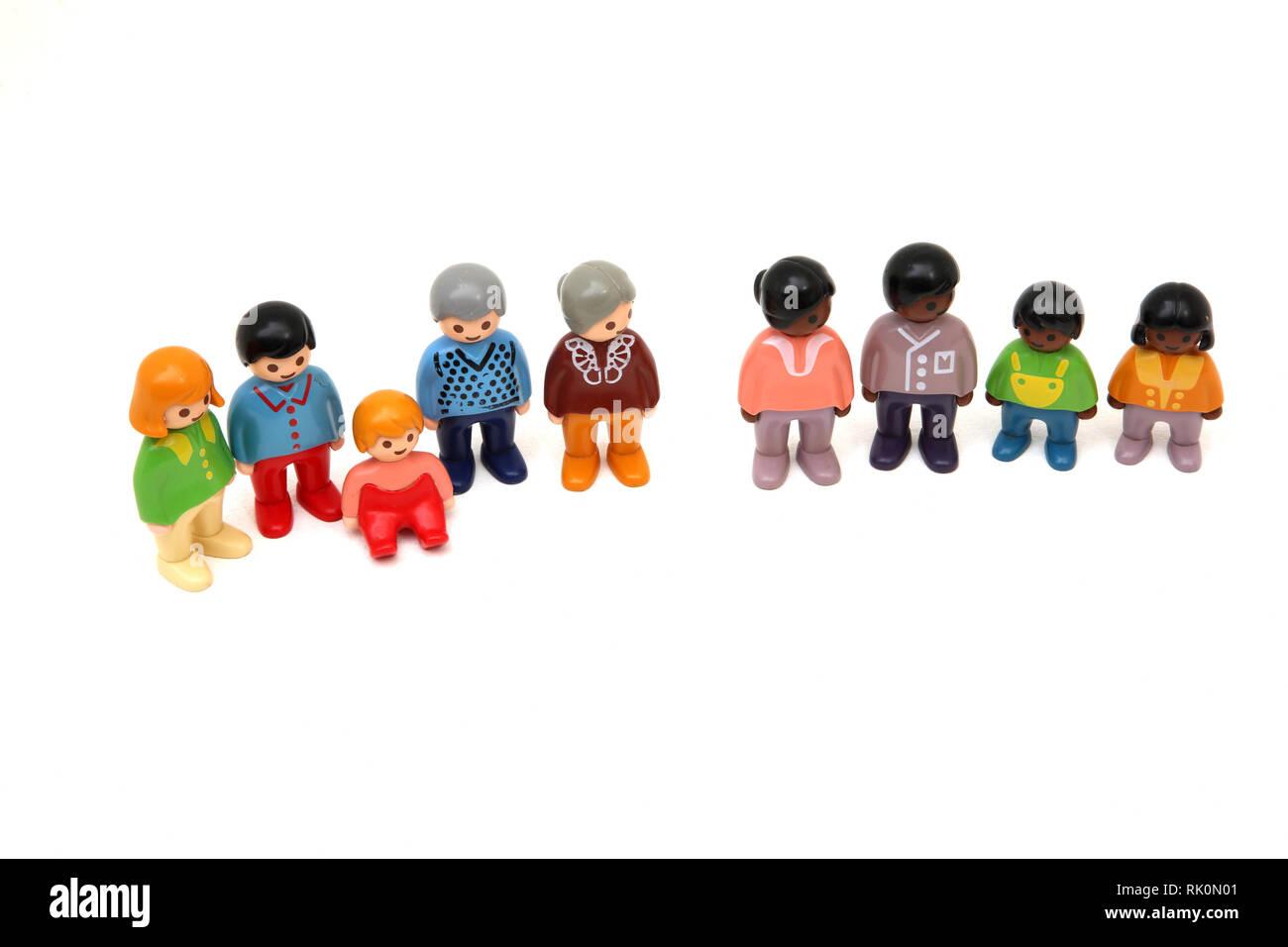 1990 Playmobil Puppen Stockbild