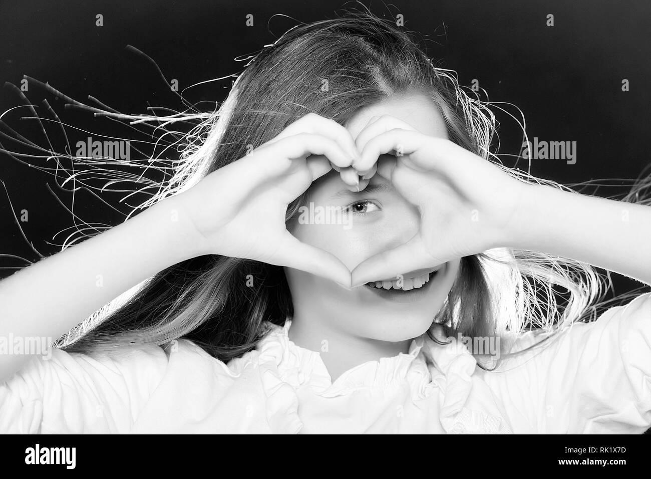 Lächelnde Teenager-Mädchen Stockbild