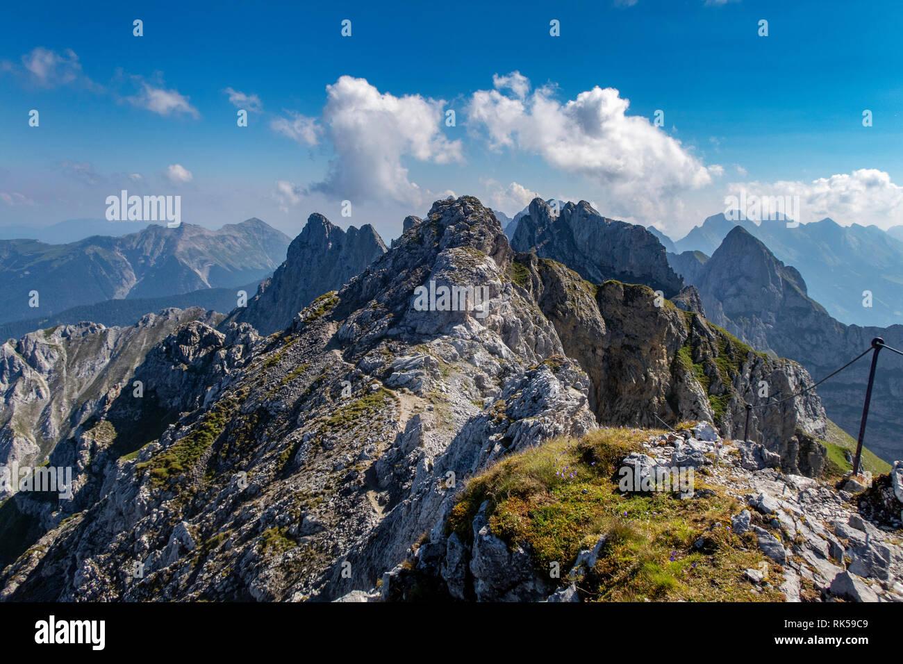 Klettersteig Mittenwald : Trail teil der klettersteig mittenwald stockfoto bild