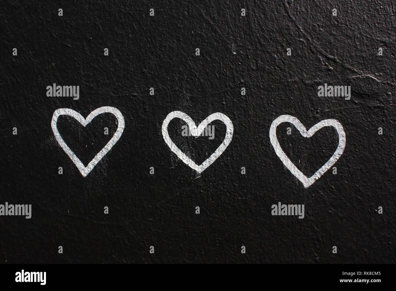 Einige Herzen Stockbild