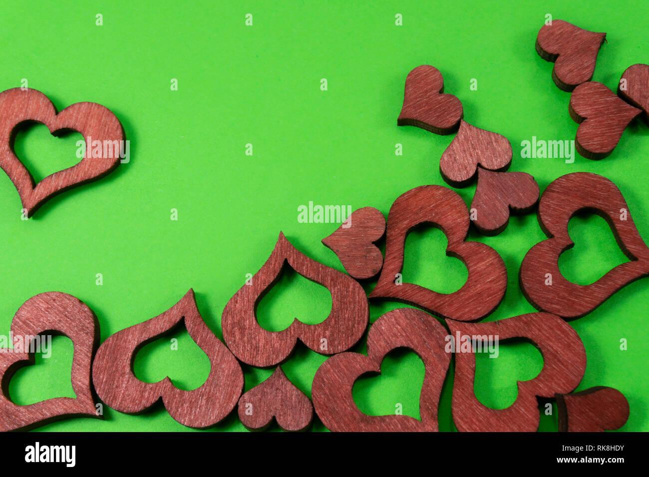 Laser Schneiden Holz Herzen Formen Auf Grun Chroma Key