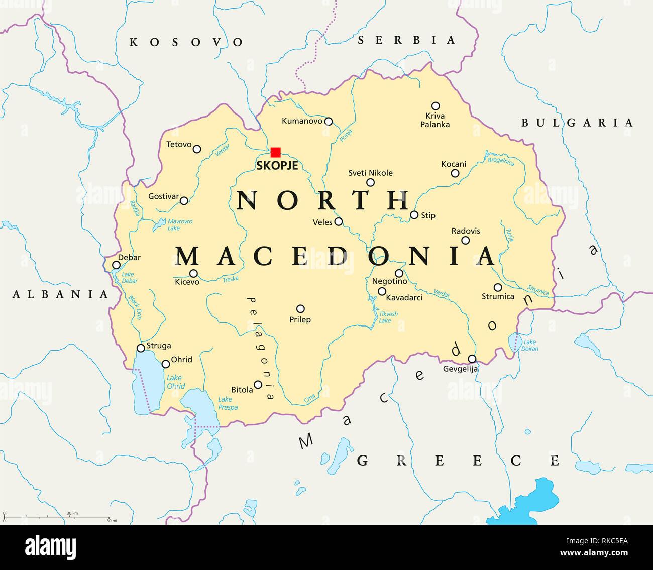 Grüne Karte Mazedonien.Nord Mazedonien Karte Stockfotos Nord Mazedonien Karte Bilder Alamy