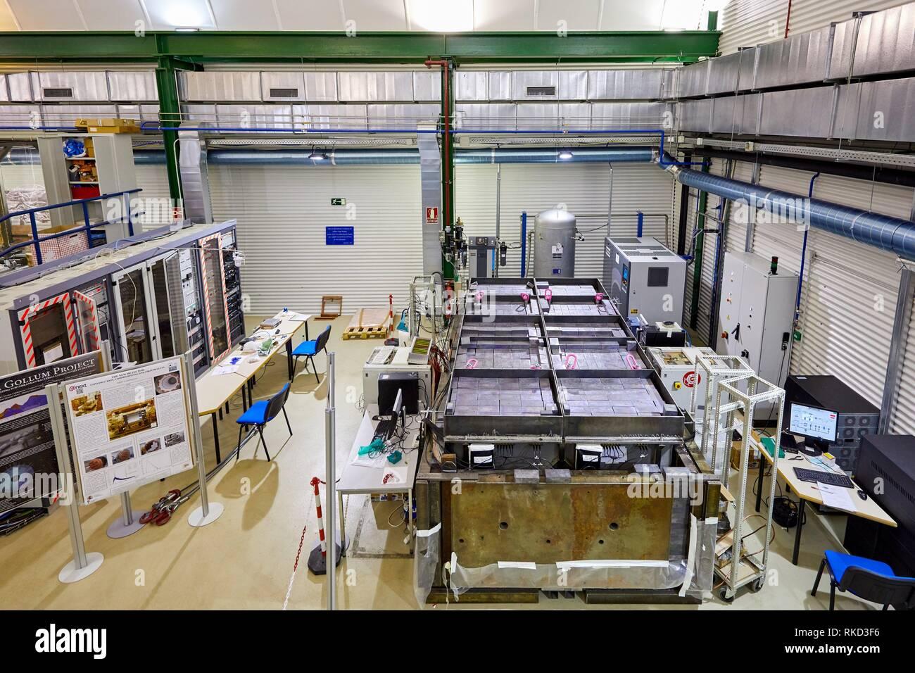 Ingredient: Allgemeine Anlage zur Messung der Radio-Reinheit von großen Flächen für unterirdische Experimente gewidmet, die Laboratorio Stockbild