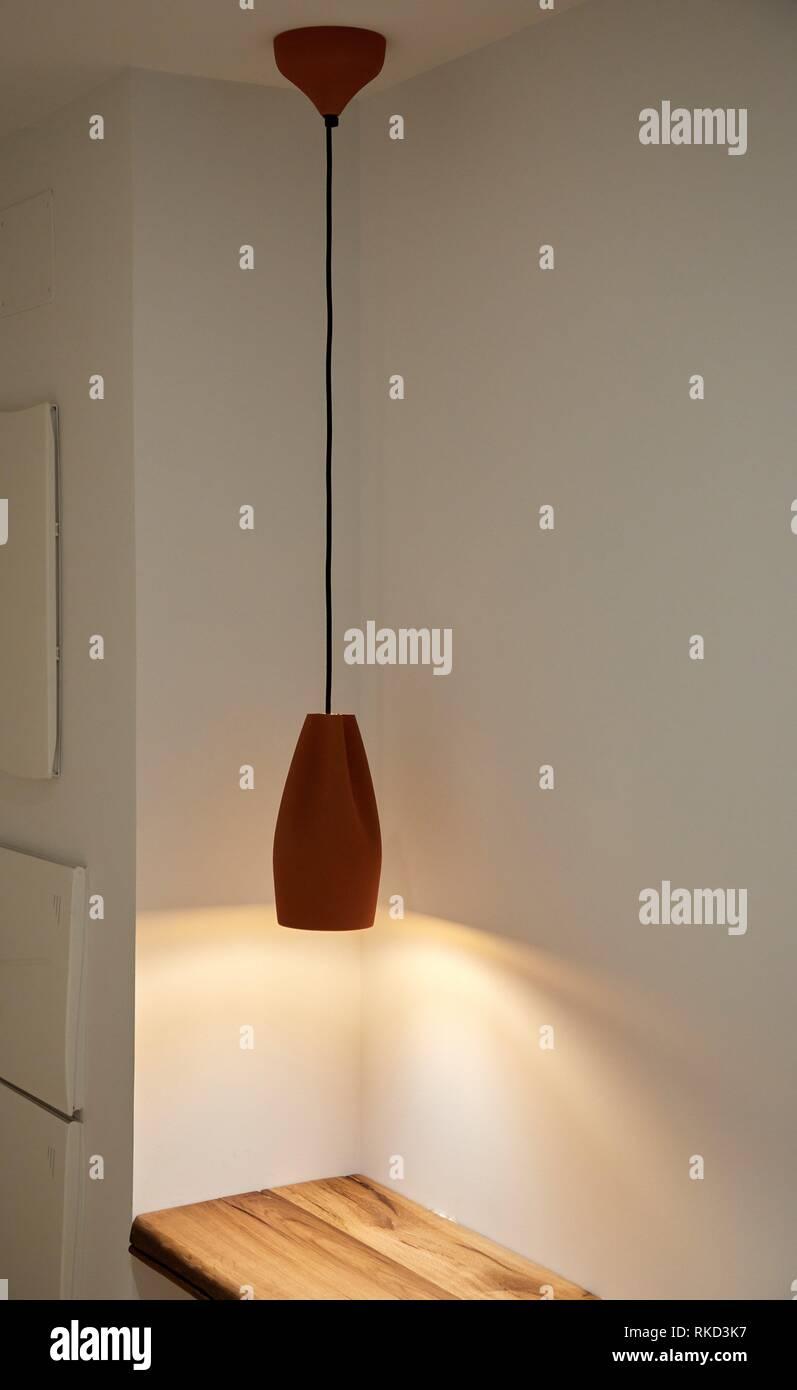 Beleuchtung, Innenausstattung von Gehäuse, Oñati, Gipuzkoa, Baskenland, Spanien, Europa Stockbild