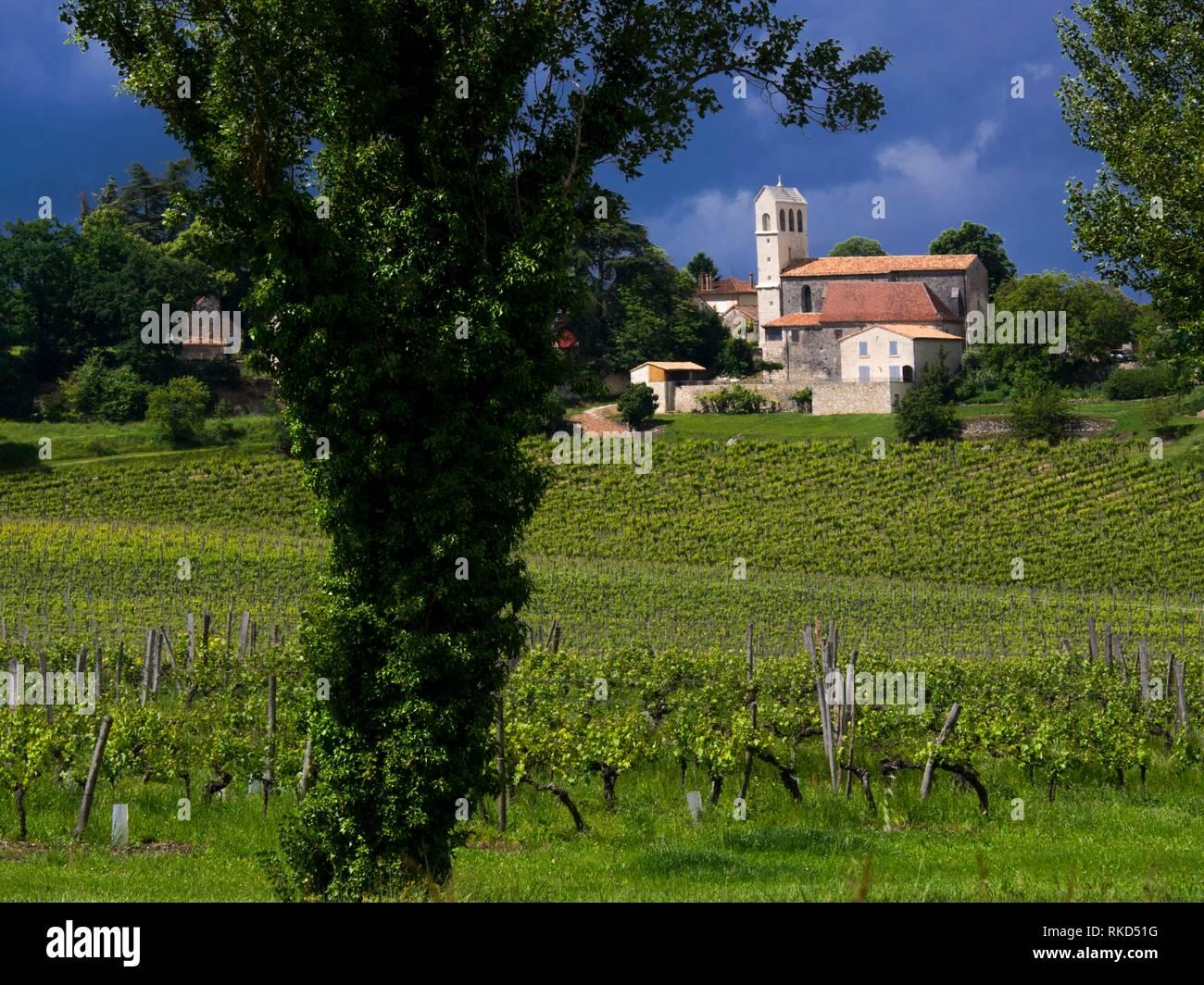 Frankreich, Nouvelle Aquitaine, Dordogne, ''Domaine de la Vieille Cure'', in der Monbazillac, der die Weine von Bergerac entfernt. Stockbild
