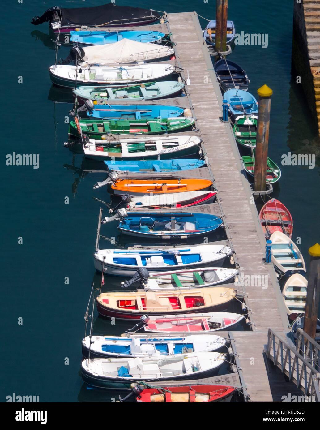 Spanien, Baskenland, Biskaya, Dorf des kleinen Fischer von Elantxobe. Elantxobe ist eine Gemeinde in der Provinz Biskaya, in Stockbild