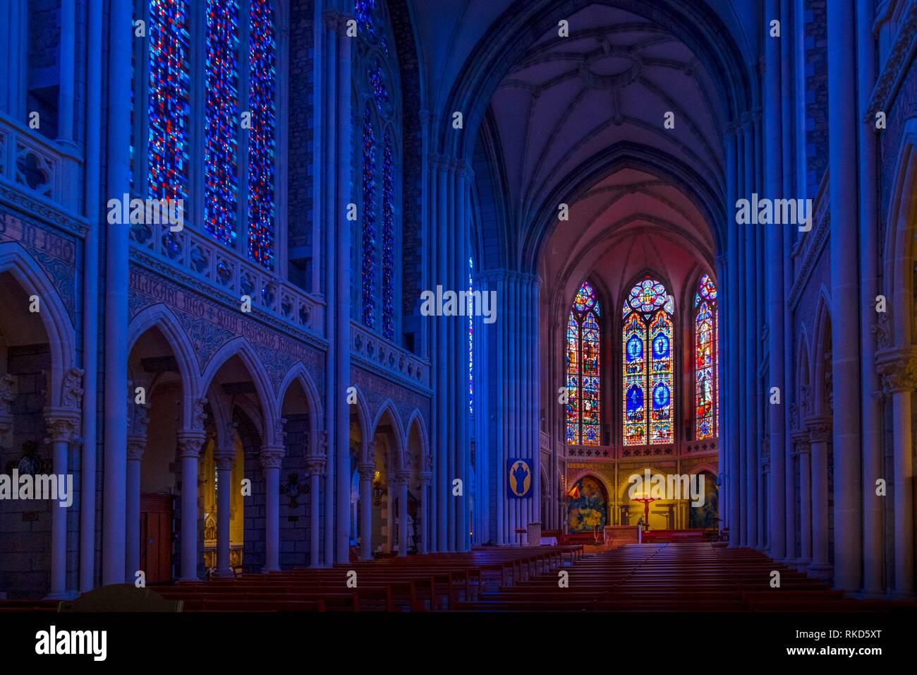 Frankreich, Pays de Loire, Mayenne, Basilika Unsere liebe Frau von Pontmain Gebet: Stockbild