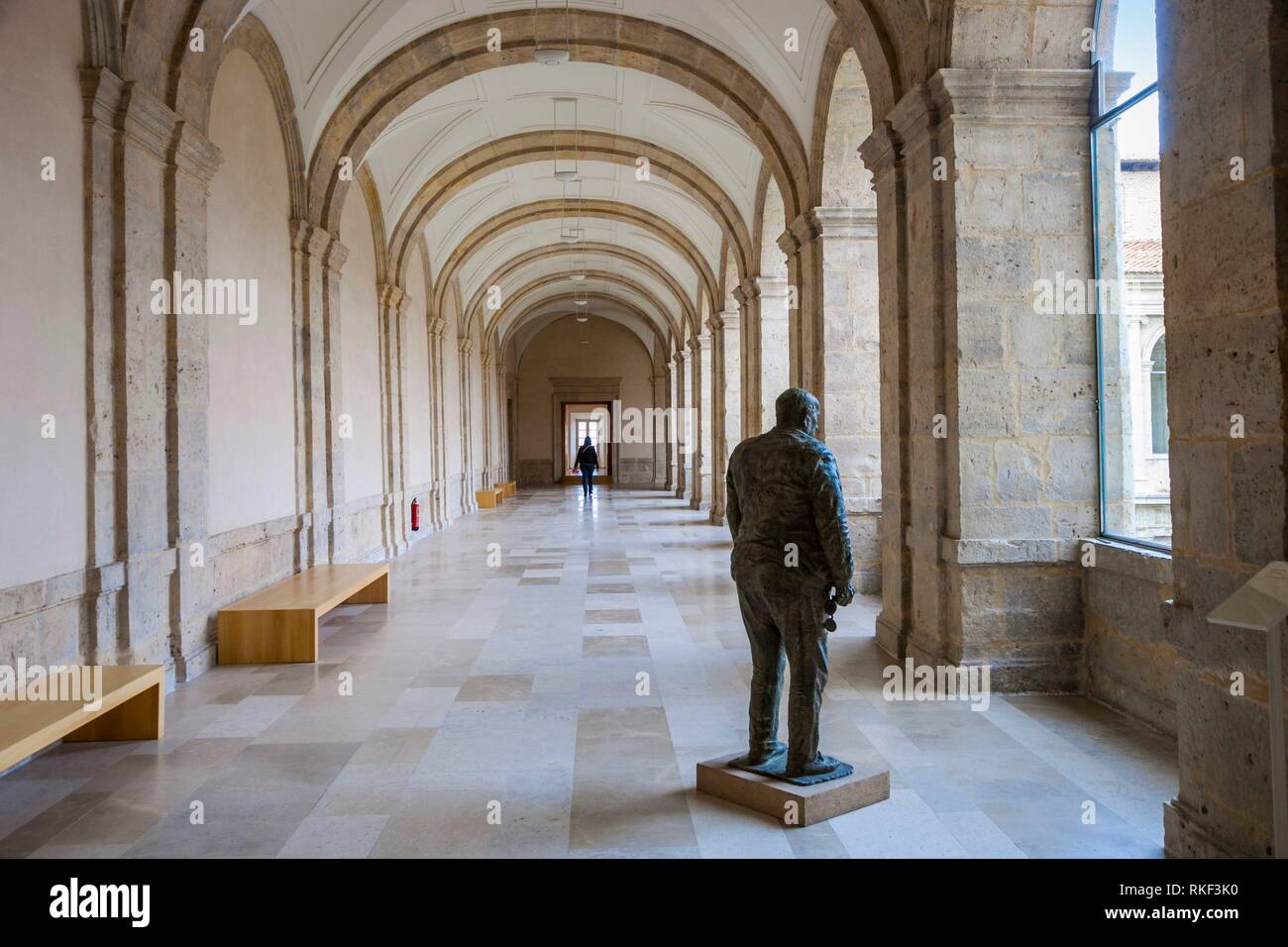 Patio Herreriano Museum, Museum für Zeitgenössische Kunst, Valladolid, Castilla y Leon, Spanien Stockbild
