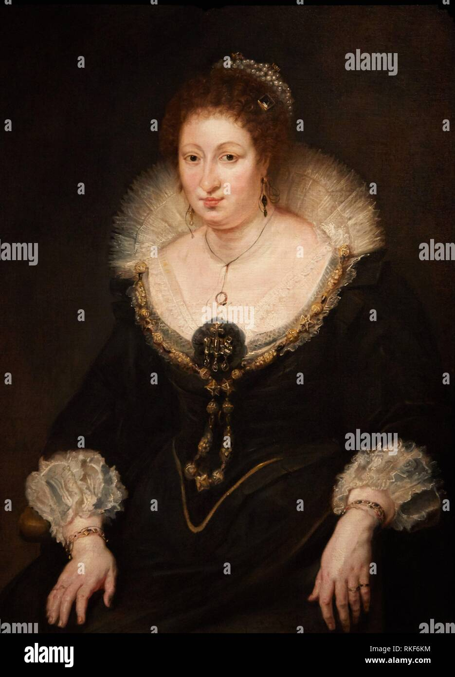 '''Lady Alethea Talbot, Gräfin von Arundel'', 1620, Peter Paul Rubens, Museum für Katalanische Kunst Museu Nacional d Art de Catalunya, MNAC, Stockbild