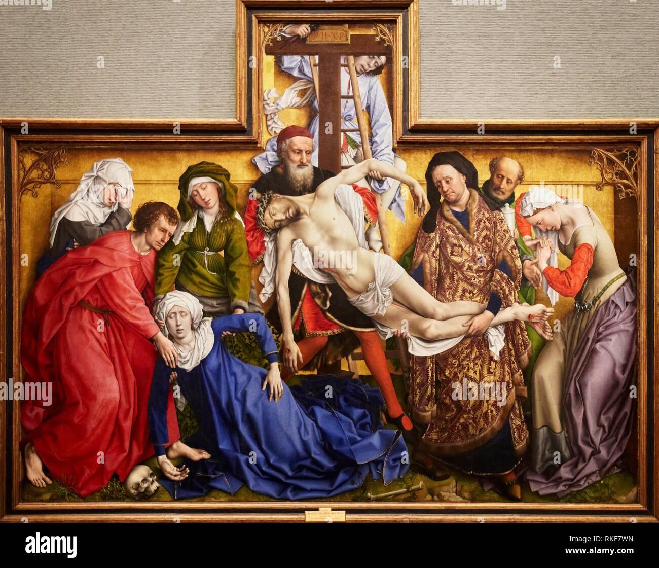 El Descendimiento De La Cruz 1443 Rogier Van Der Weyden Museo Del Prado Madrid Spanien Stockfotografie Alamy