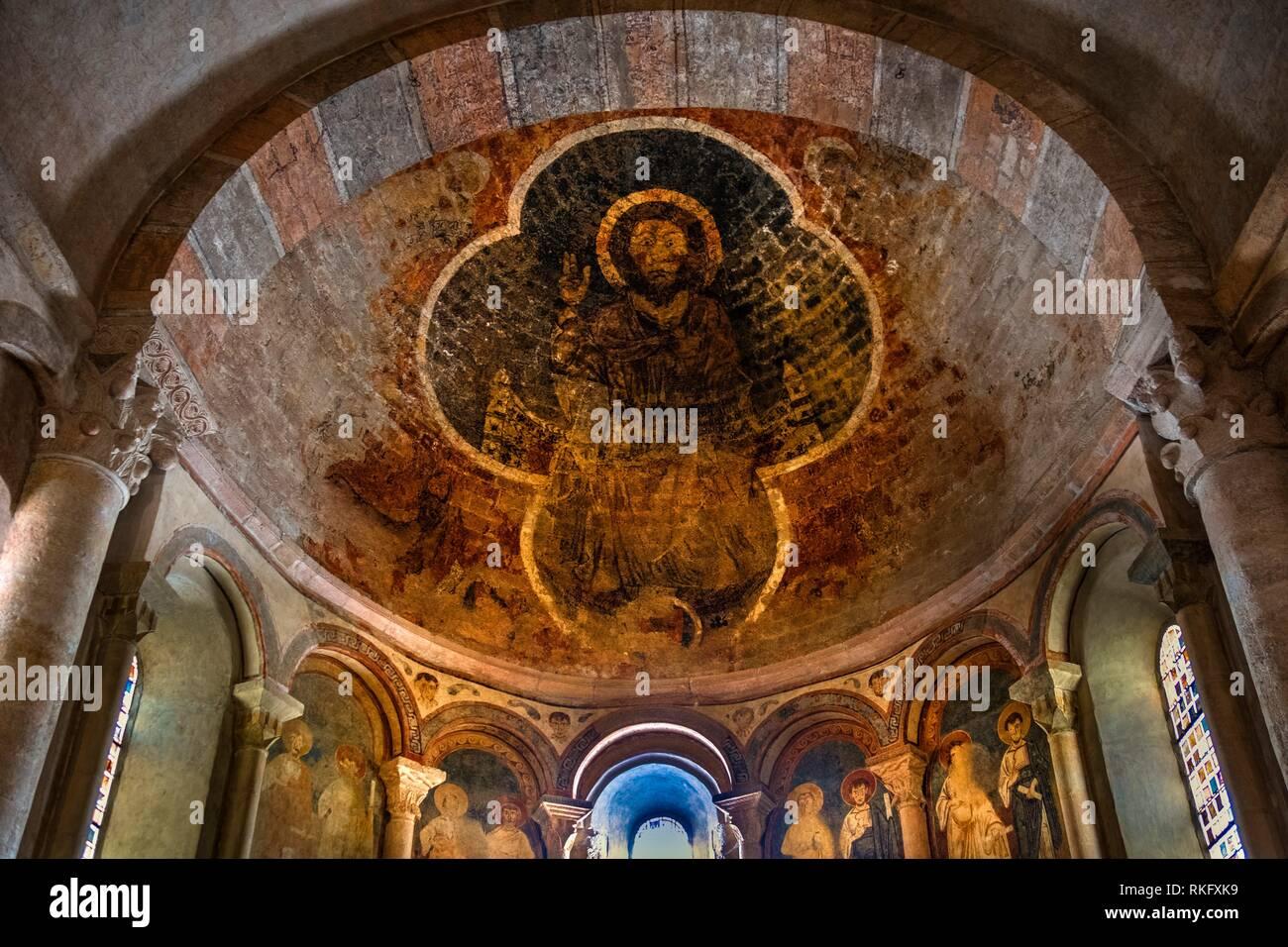 Frankreich, Royal, Arriege, 14. Jahrhundert, Deckengemälde der Cathedrale ar Saint Ligier. Stockbild