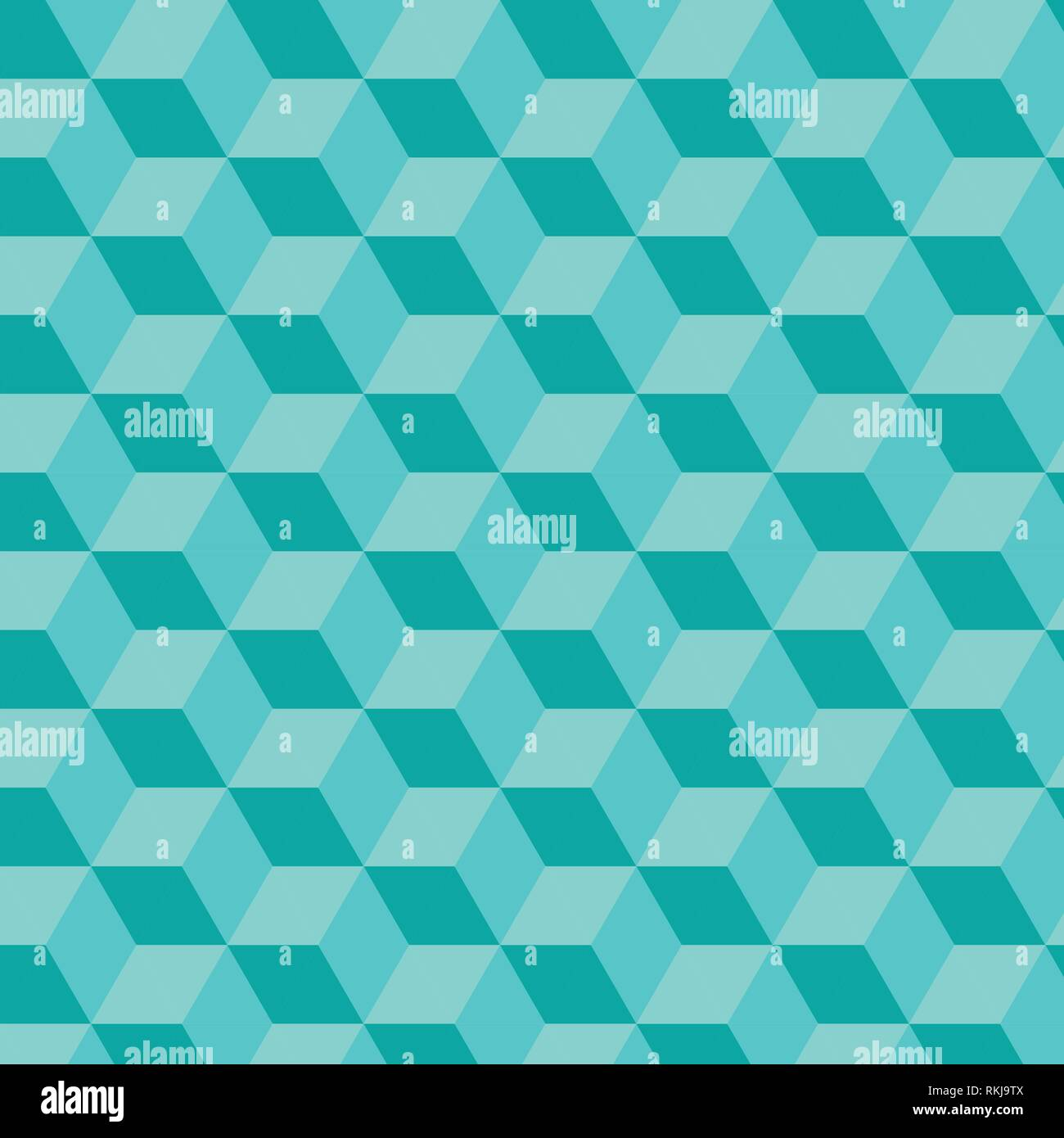 Light Blue Cube von Dreieck, geometrischer Vektor Muster gemacht Stock Vektor