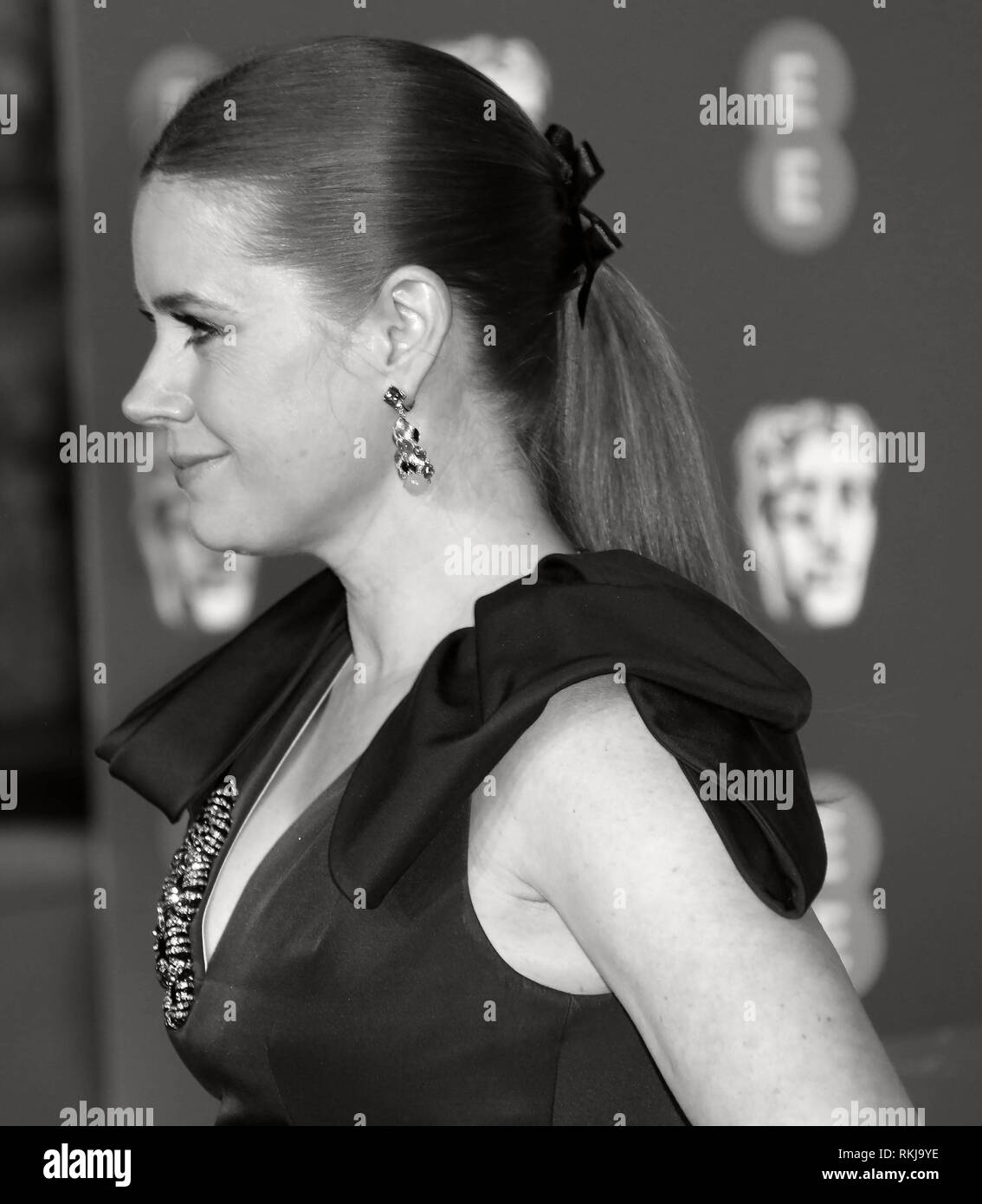 Feb 10, 2019 - Amy Adams an EE British Academy Film Awards 2019 - Alternative Ansicht, der Royal Albert Hall in London, Großbritannien Stockbild