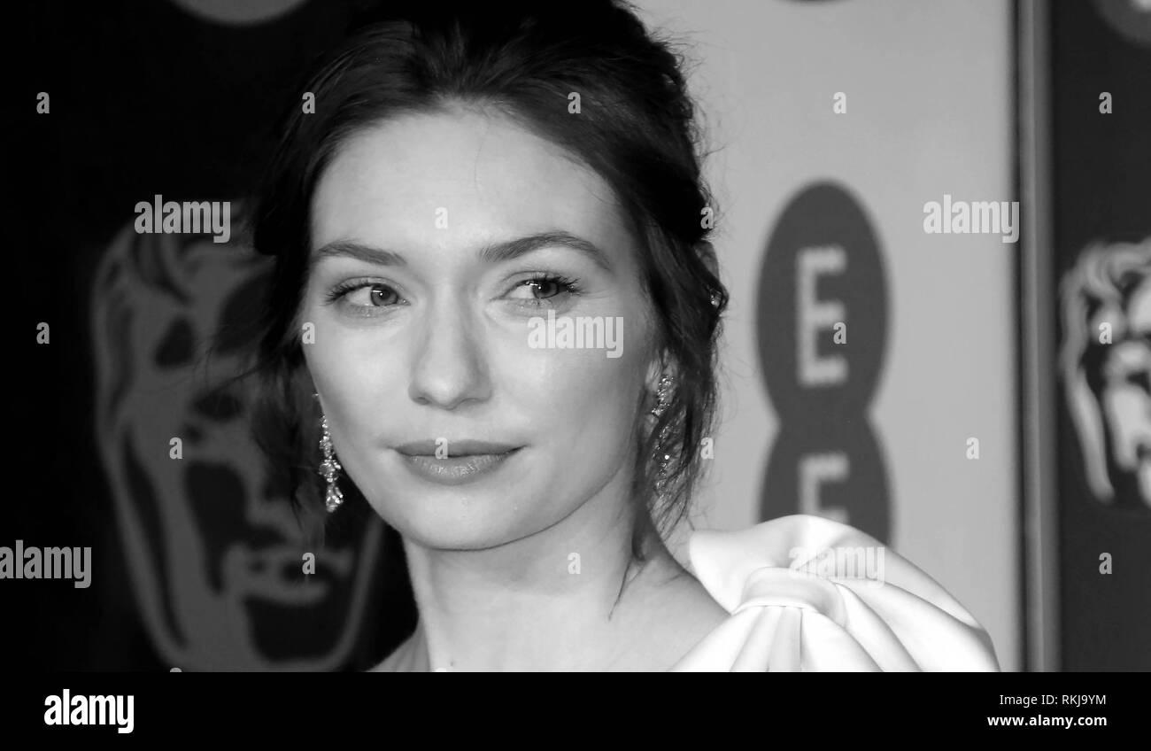 Feb 10, 2019 - Eleanor Tomlinson an EE British Academy Film Awards 2019 - Alternative Ansicht, der Royal Albert Hall in London, Großbritannien Stockbild
