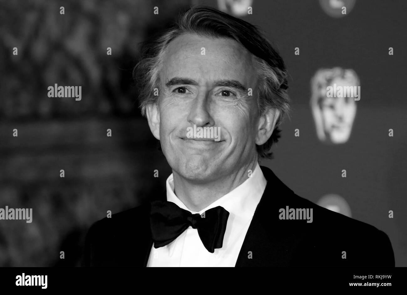 Feb 10, 2019 - Steve Coogan Teilnahme an EE British Academy Film Awards 2019 - Alternative Ansicht, der Royal Albert Hall in London, Großbritannien Stockbild