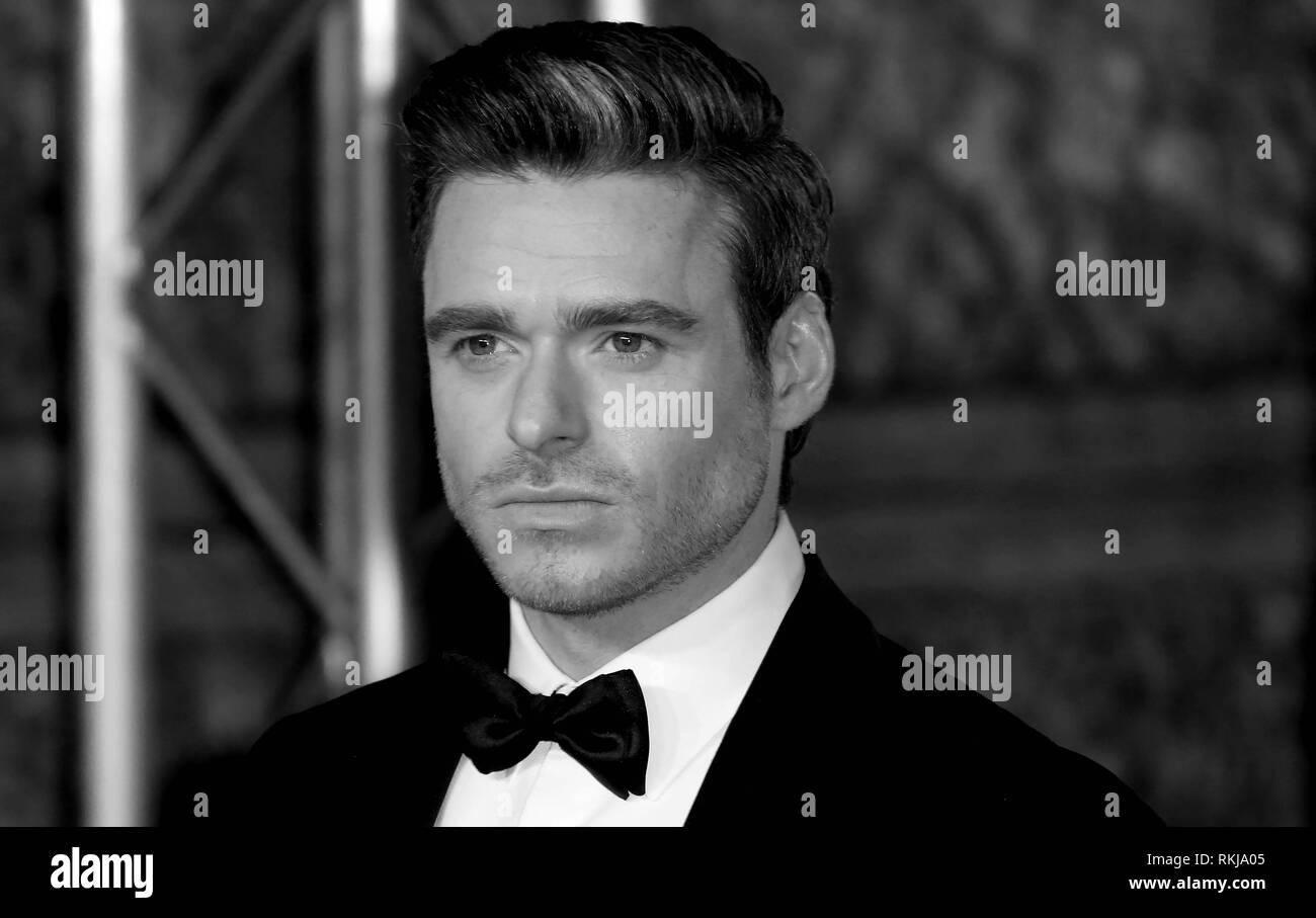 Feb 10, 2019 - Richard Madden Teilnahme an EE British Academy Film Awards 2019 - Alternative Ansicht, der Royal Albert Hall in London, Großbritannien Stockbild