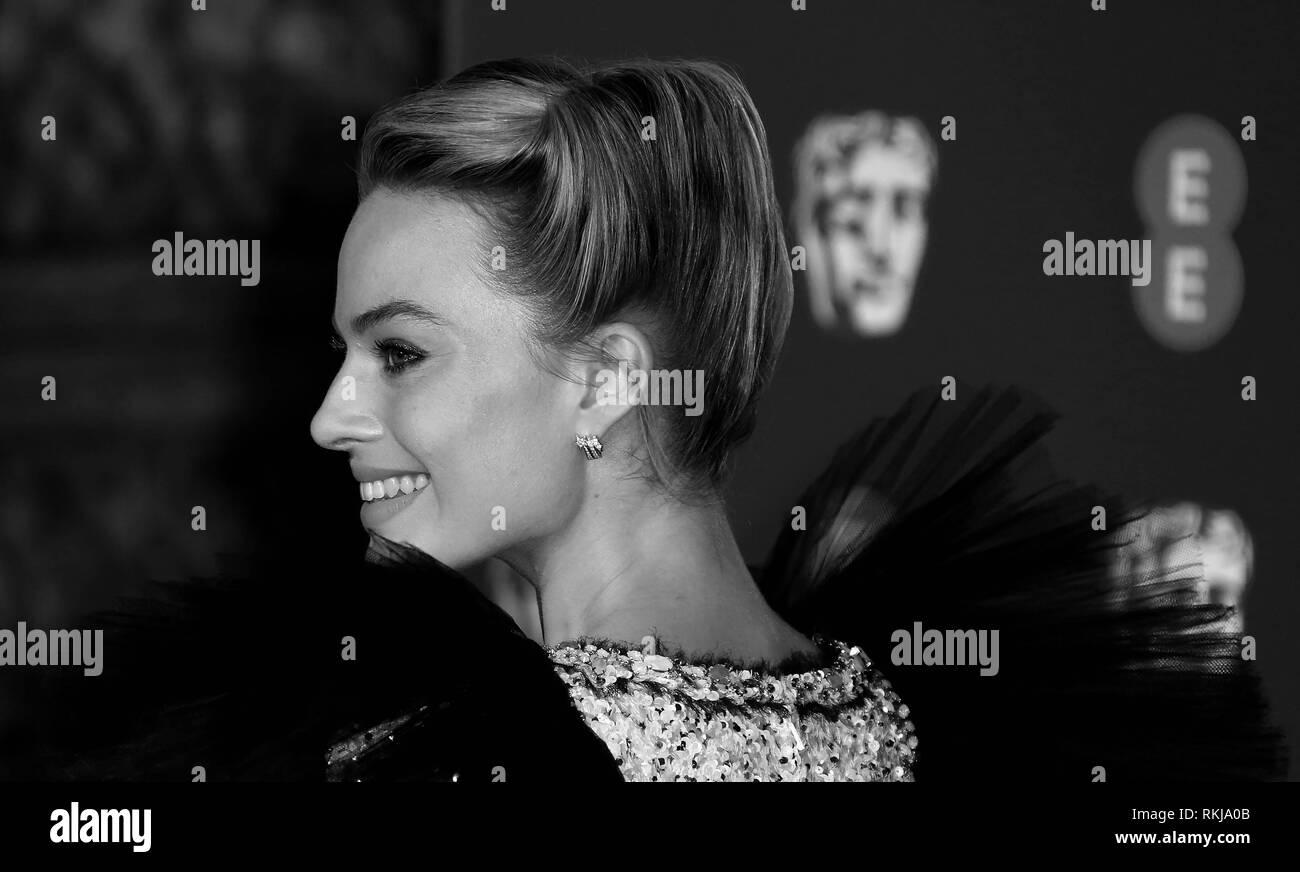 Feb 10, 2019 - Margot Robbie an EE British Academy Film Awards 2019 - Alternative Ansicht, der Royal Albert Hall in London, Großbritannien Stockbild