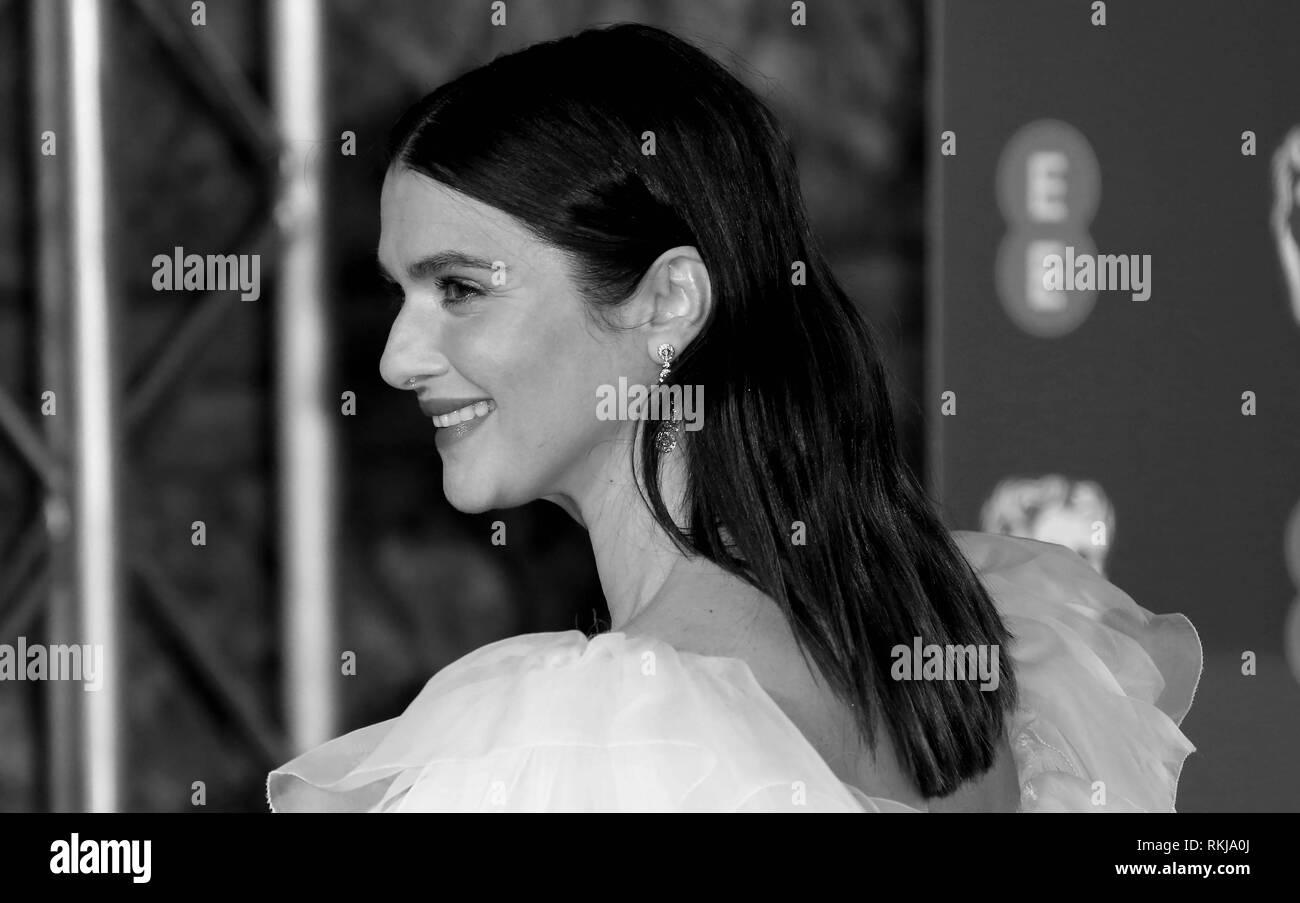Feb 10, 2019 - Rachel Weisz an EE British Academy Film Awards 2019 - Alternative Ansicht, der Royal Albert Hall in London, Großbritannien Stockbild