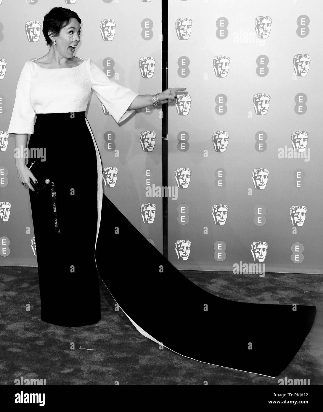 Feb 10, 2019 - Olivia Coleman an EE British Academy Film Awards 2019 - Alternative Ansicht, der Royal Albert Hall in London, Großbritannien Stockbild