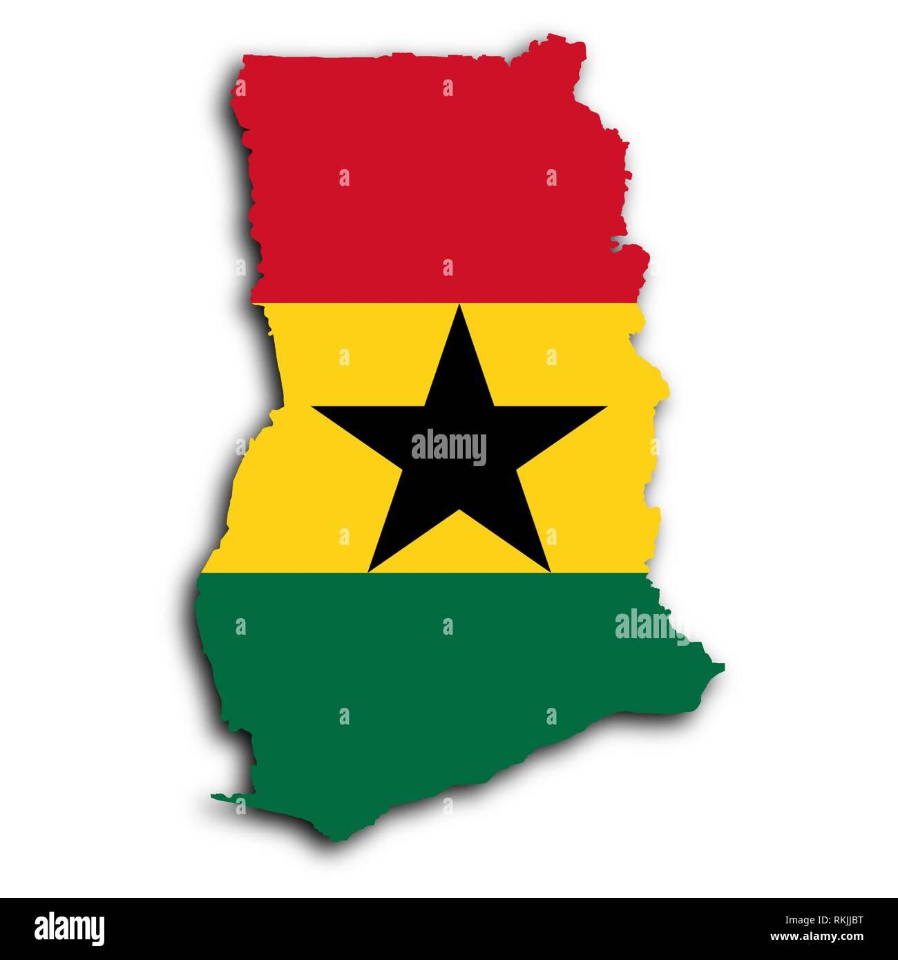 Map Ghana Stockfotos & Map Ghana Bilder - Alamy