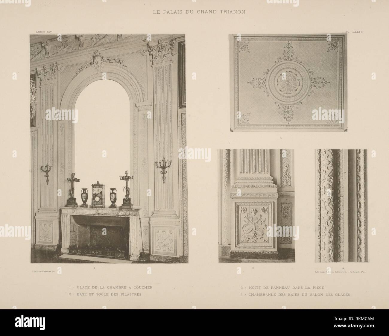 1 - Glace de la Chambre a coucher; 2-base et Sockel des pilastres; 3 ...