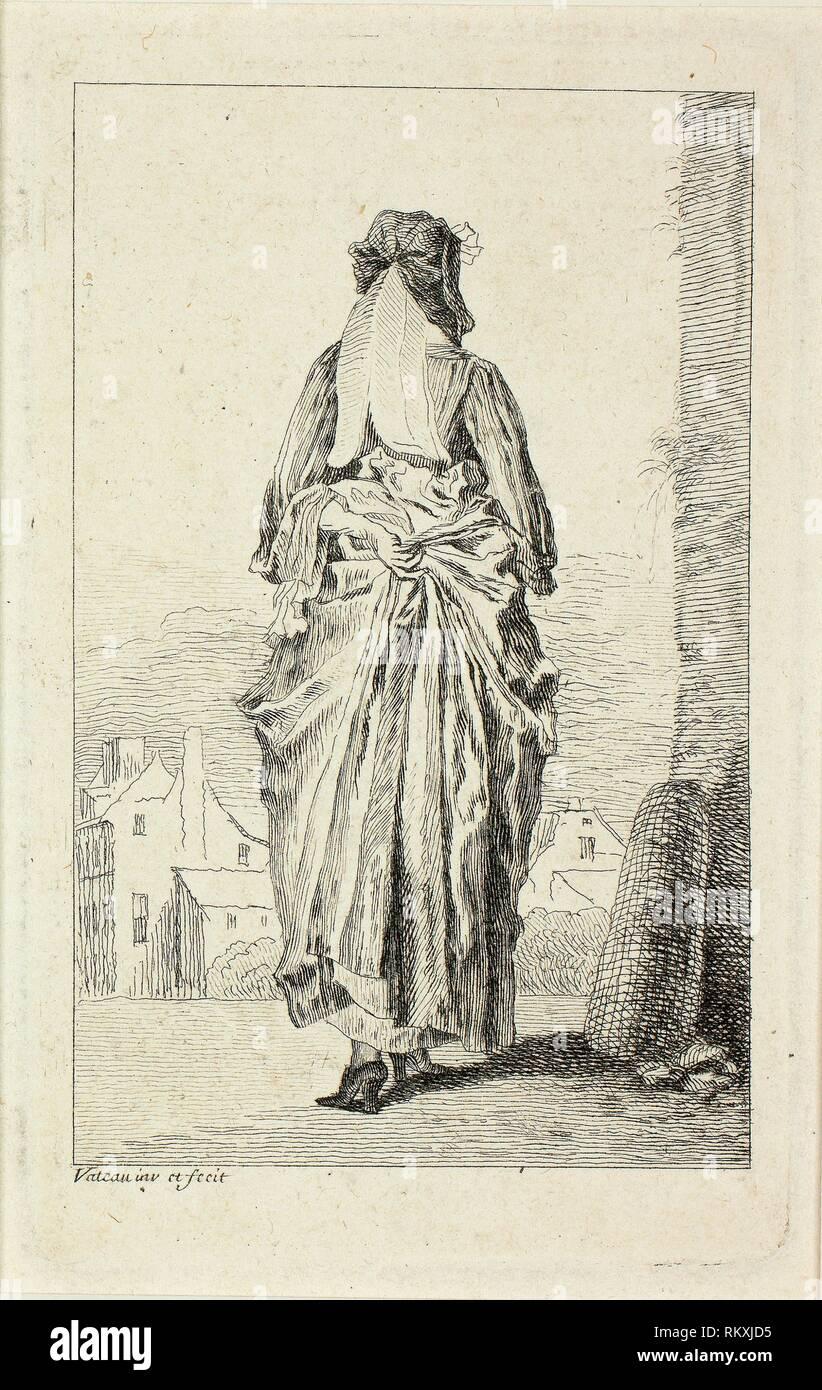 Zahlen du Mode C. 1710 Jean Antoine Watteau Französisch