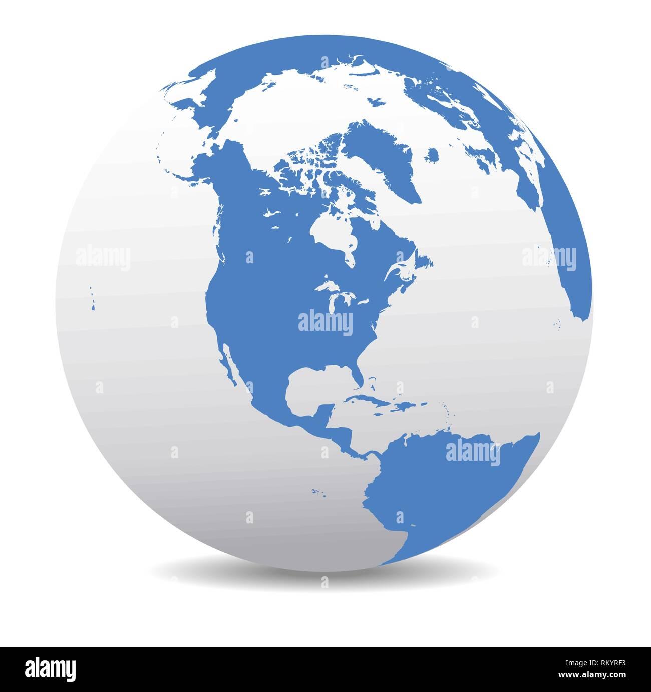 Karte Südamerika Und Nordamerika.Nordamerika Südamerika Globalen Welt Vektor Symbol Karte Der Welt