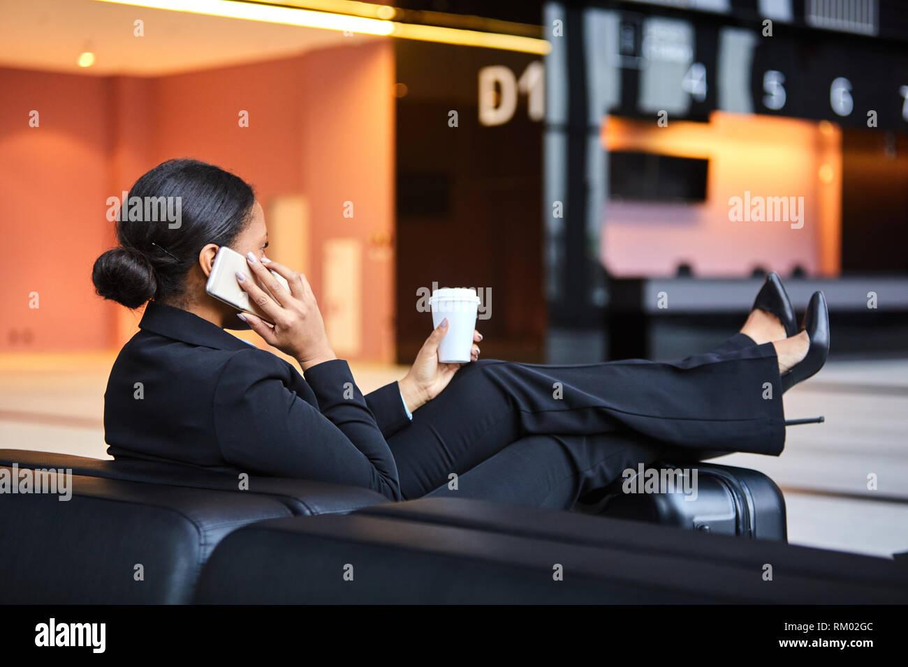 Entspannen Sie in der Lounge Stockfoto