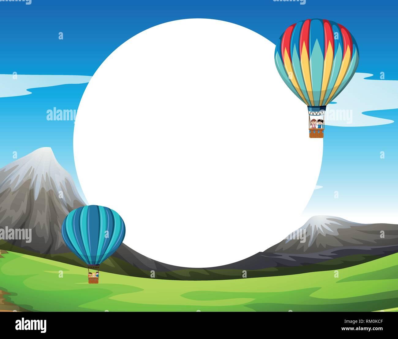 Ein Heißluftballon Vorlage Abbildung Vektor Abbildung Bild