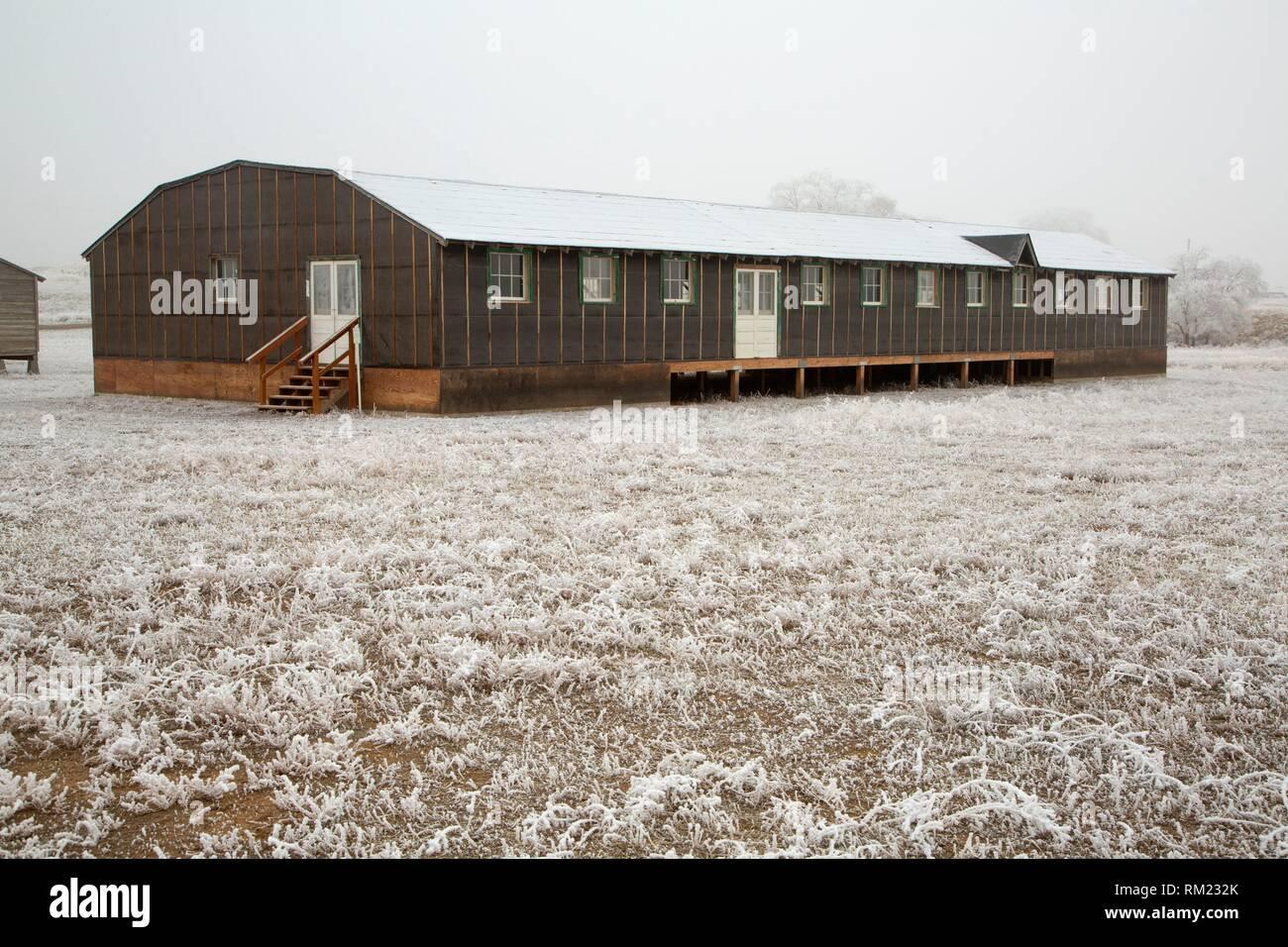 Mess Hall, Minidoka National Historic Site, Idaho. Stockfoto