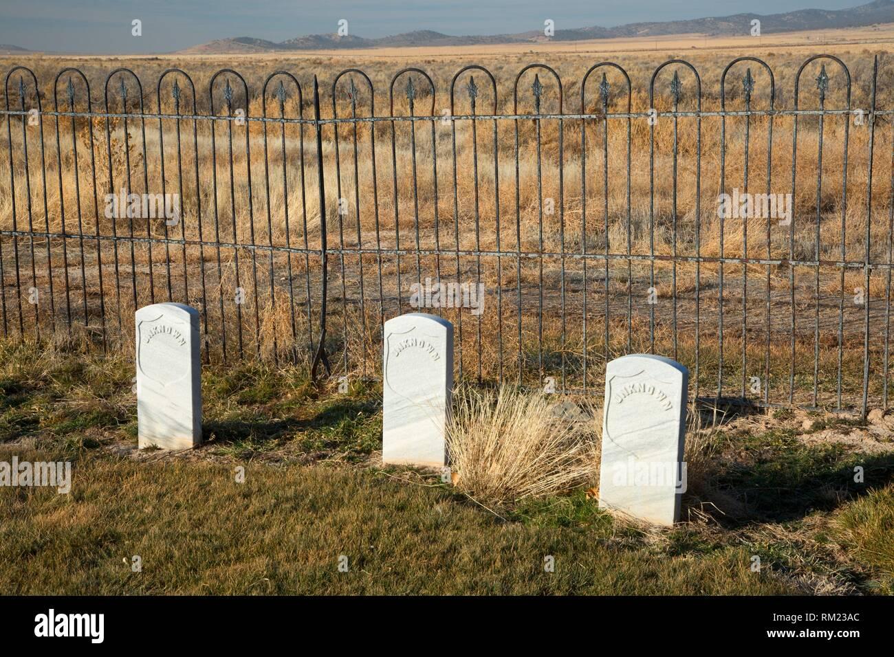 Camp Floyd Friedhof, Camp Floyd State Park Museum, Utah. Stockbild