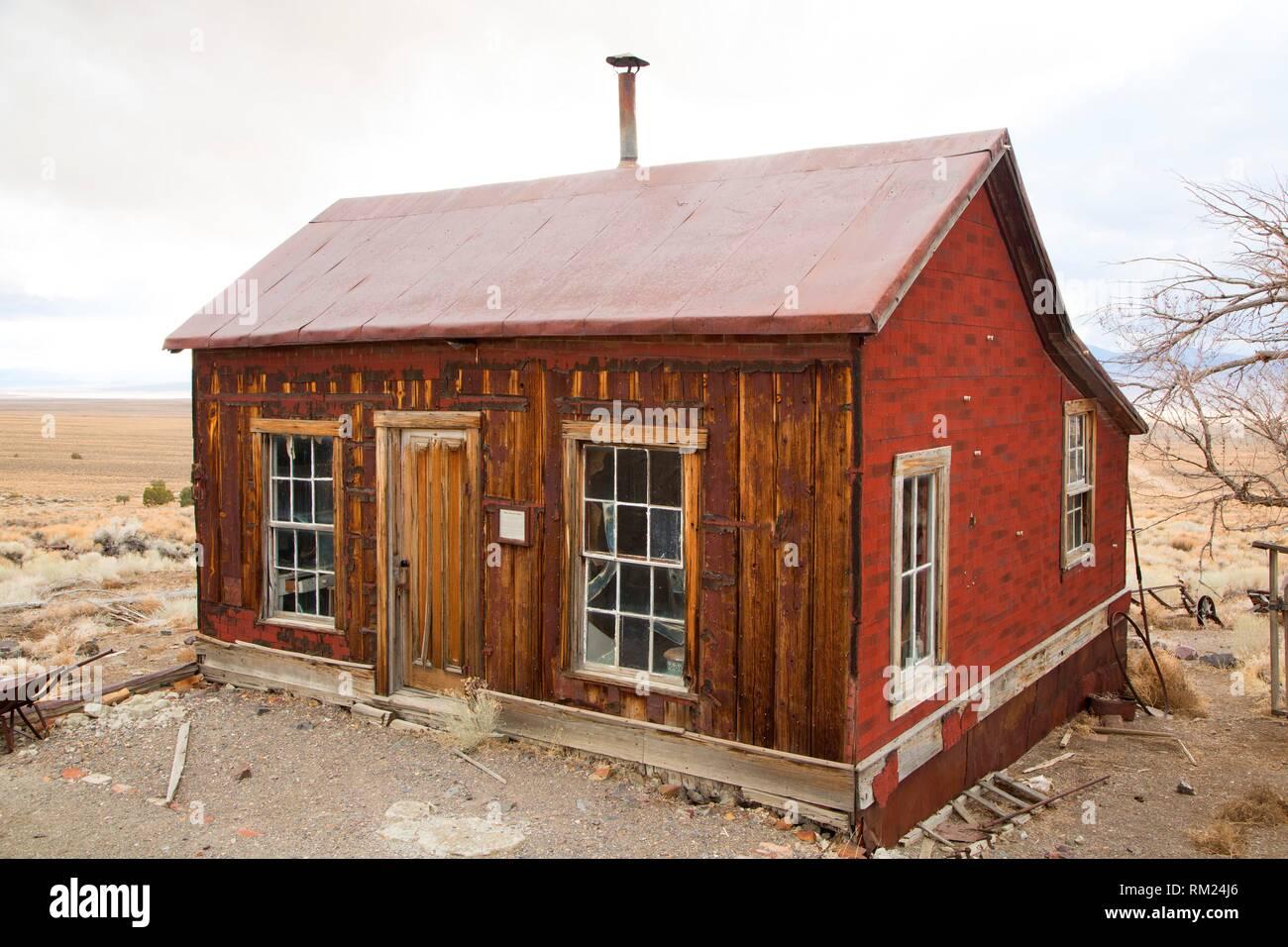 Frau Phillips Home, Berlin-Icthyosaur State Park, Nevada. Stockbild