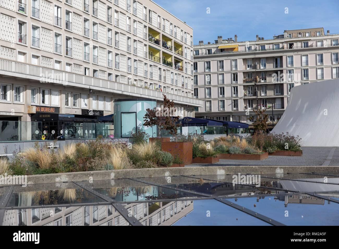 Architektur von auguste perret in le havre in der innenstadt