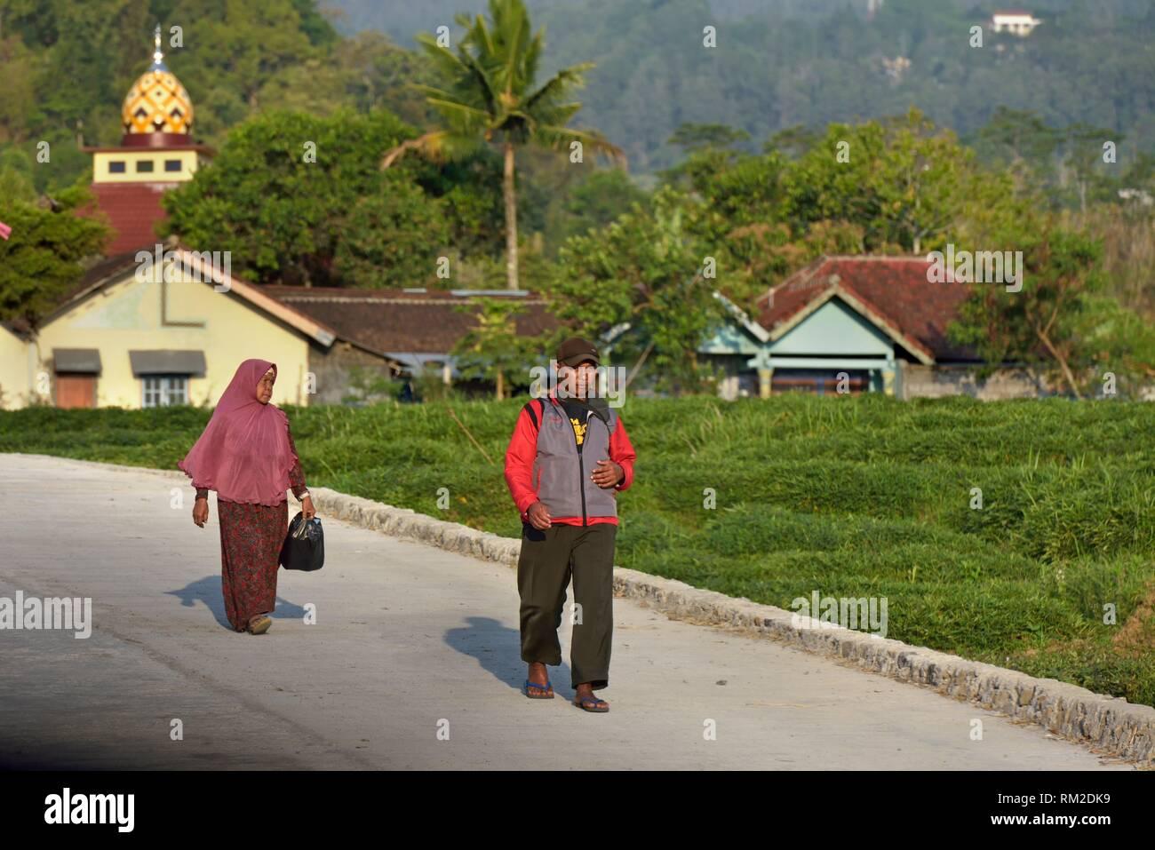 Dorf in Tawangmangu, Karanganyar Bezirk, in der Nähe von Surakarta (Solo), Insel Java, Indonesien, Südostasien. Stockbild