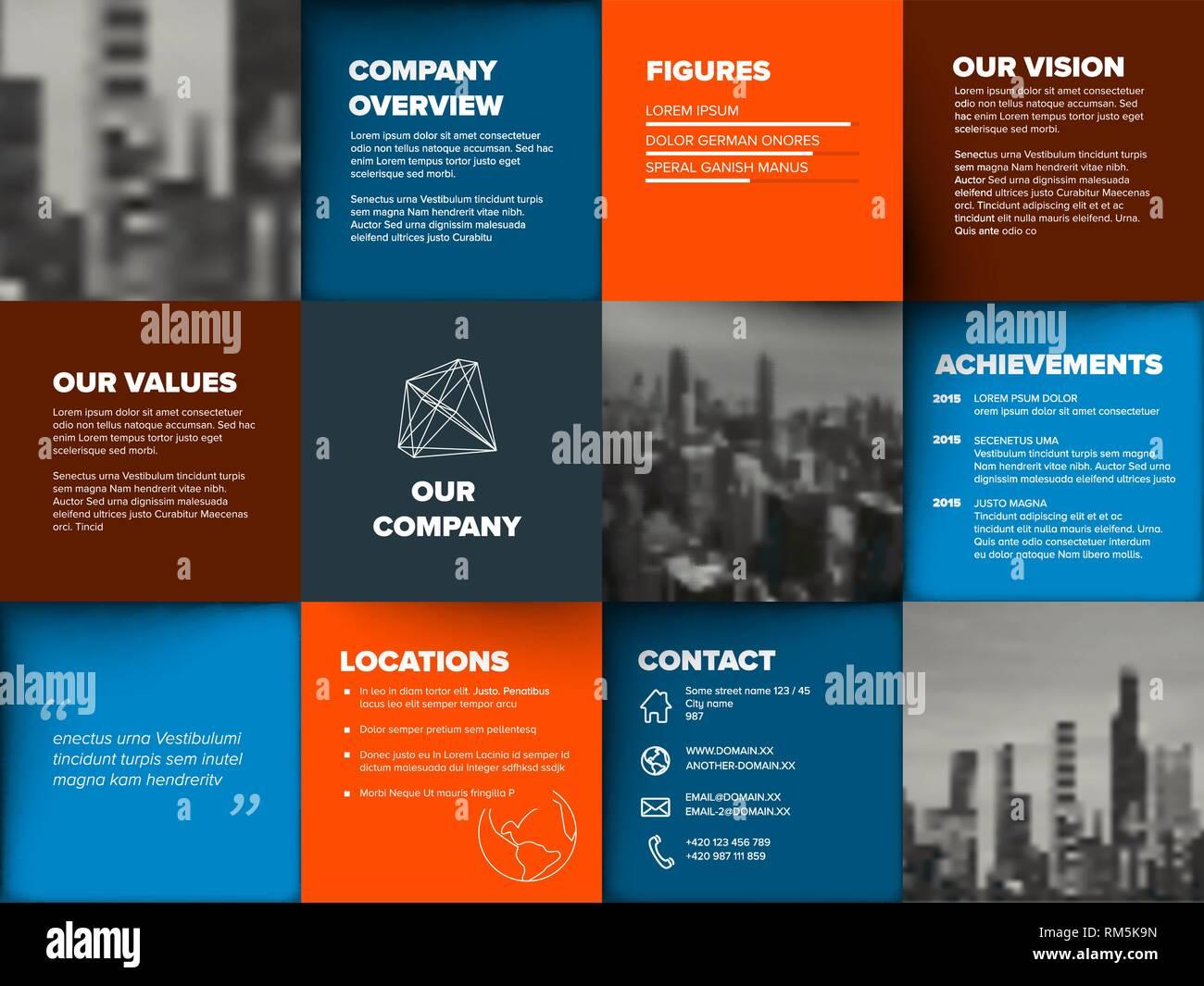 Seitenlayout Fur Firmenprofil Jahresbericht 4