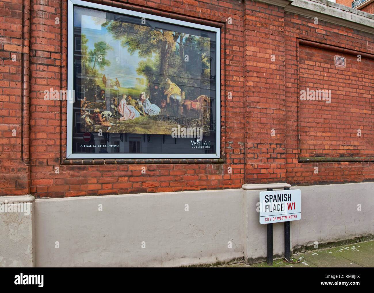 LONDON THE WALLACE COLLECTION HERTFORD HOUSE MANCHESTER SQUARE BILD AN DER WAND IN SPANISCH ORT Stockbild