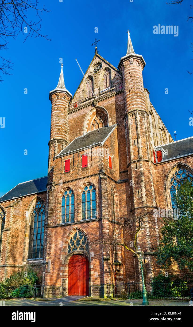 Die pieterskerk, einer spätgotischen Kirche in Leiden, Niederlande Stockfoto