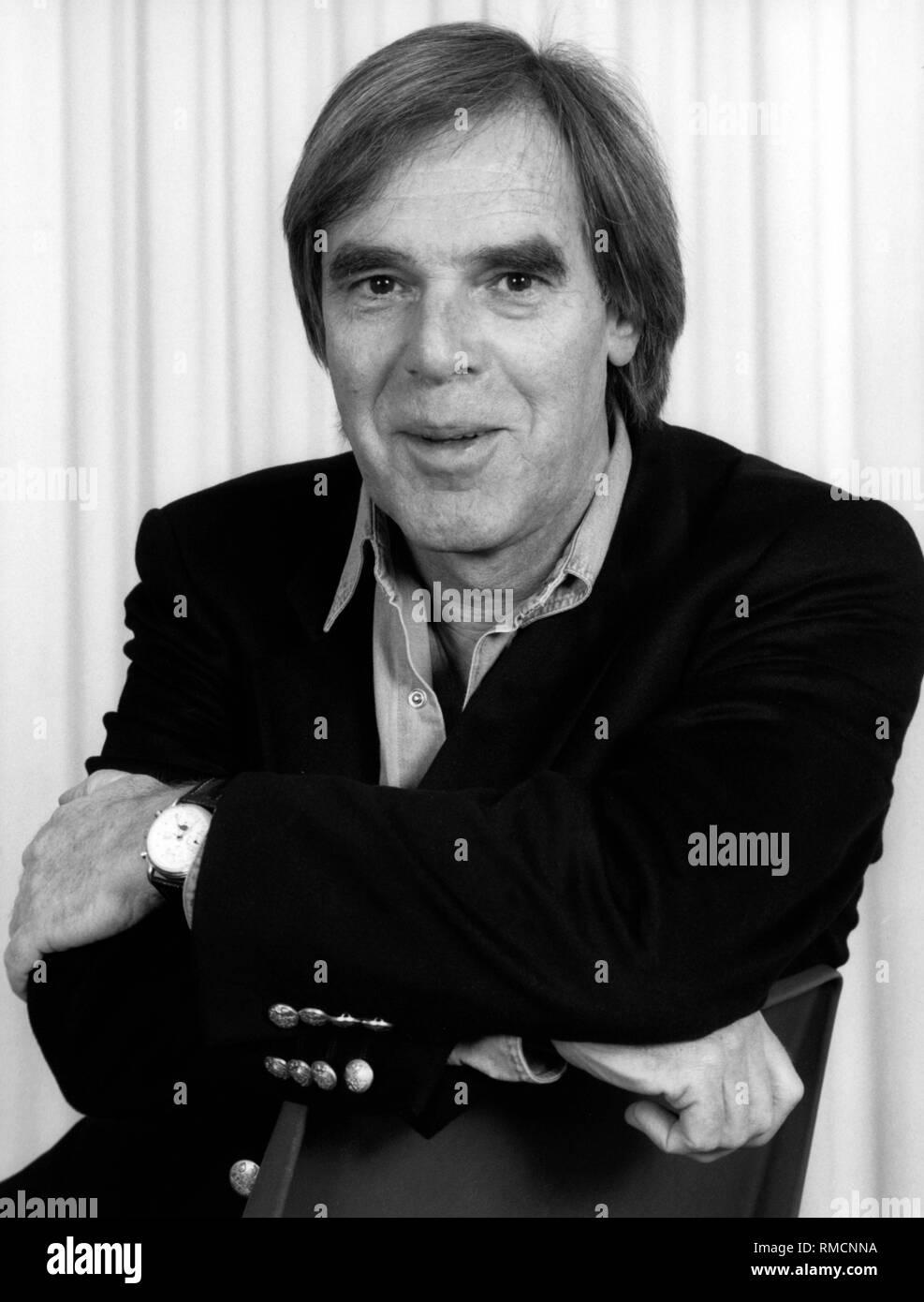 Porträt der Schauspieler, Regisseur und Autor Horst Juessen. Undatiertes Foto, wahrscheinlich Anfang der 90er Jahre. Stockbild