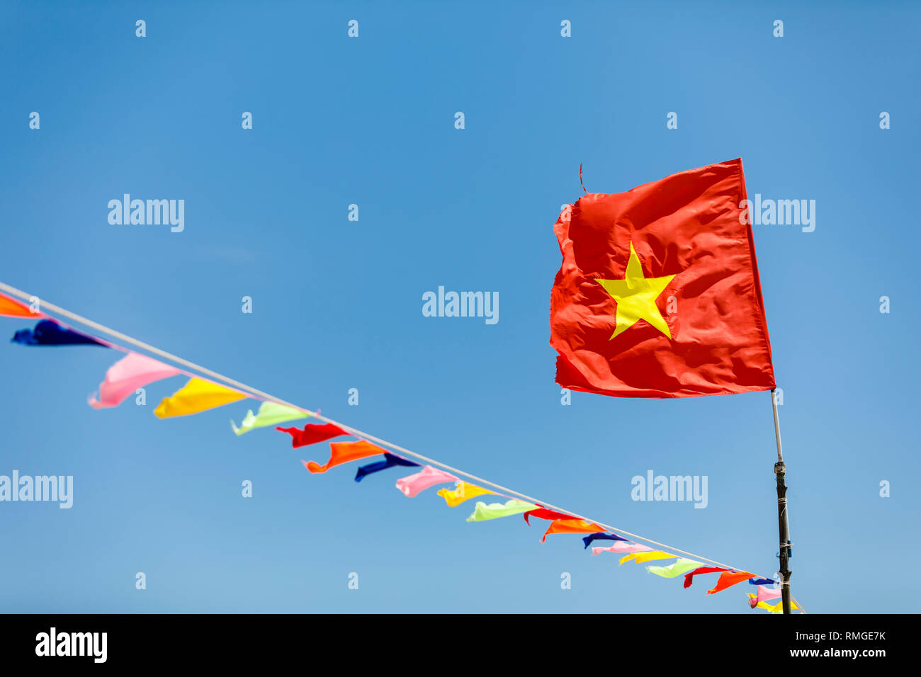 Mit fahne gelben stern rot Flagge China,