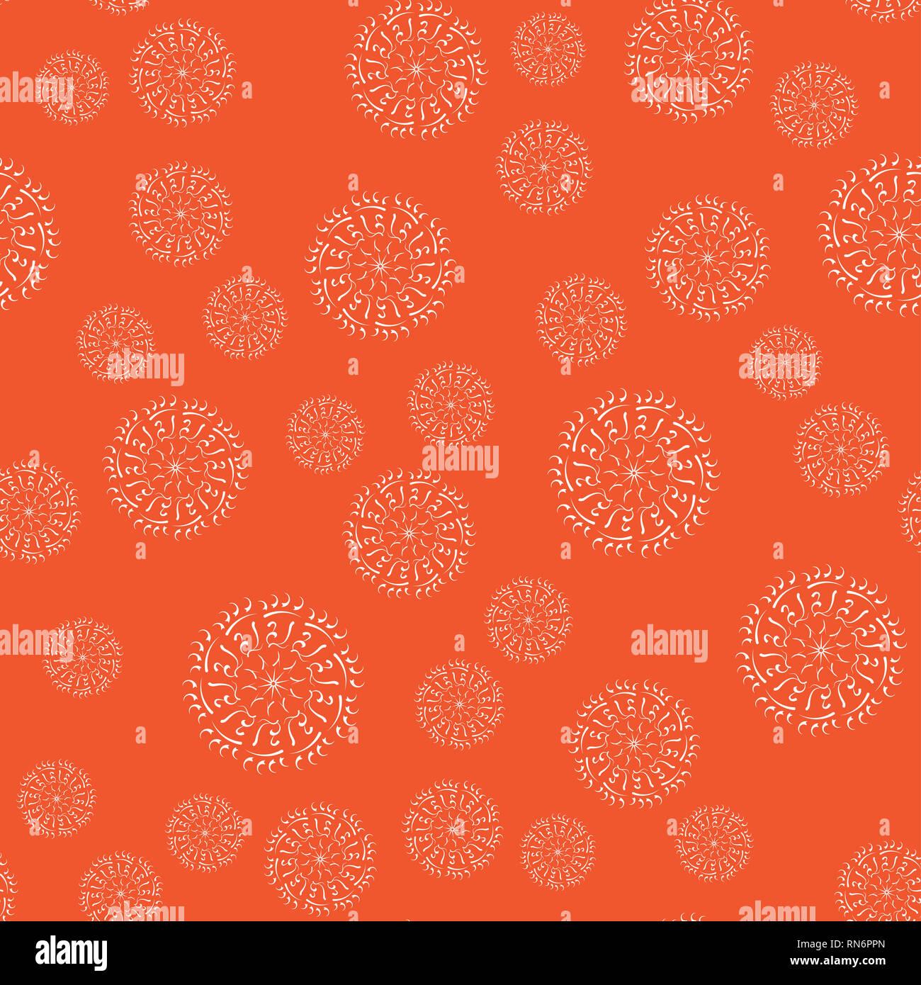 Mandala Nahtlose Muster Auf Einen Farbigen Hintergrund Malvorlagen