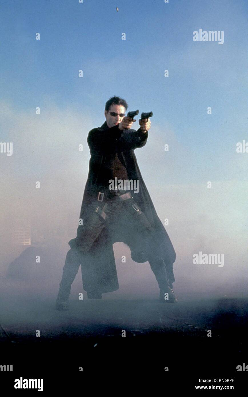 KEANU REEVES, DER MATRIX, 1999 Stockfoto