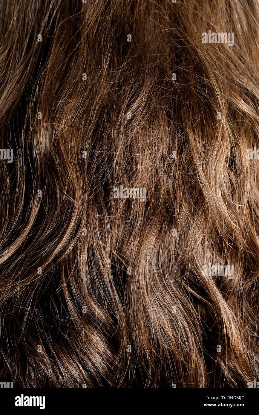Hinten von braune lange haare Stufenschnitt lange
