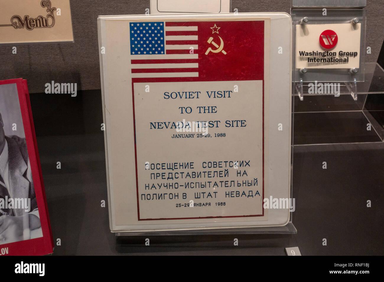 """Eine gemeinsame Überprüfung Experiment (Mai 1988) """"Kearsarge' Album, Nevada, United States. Stockfoto"""