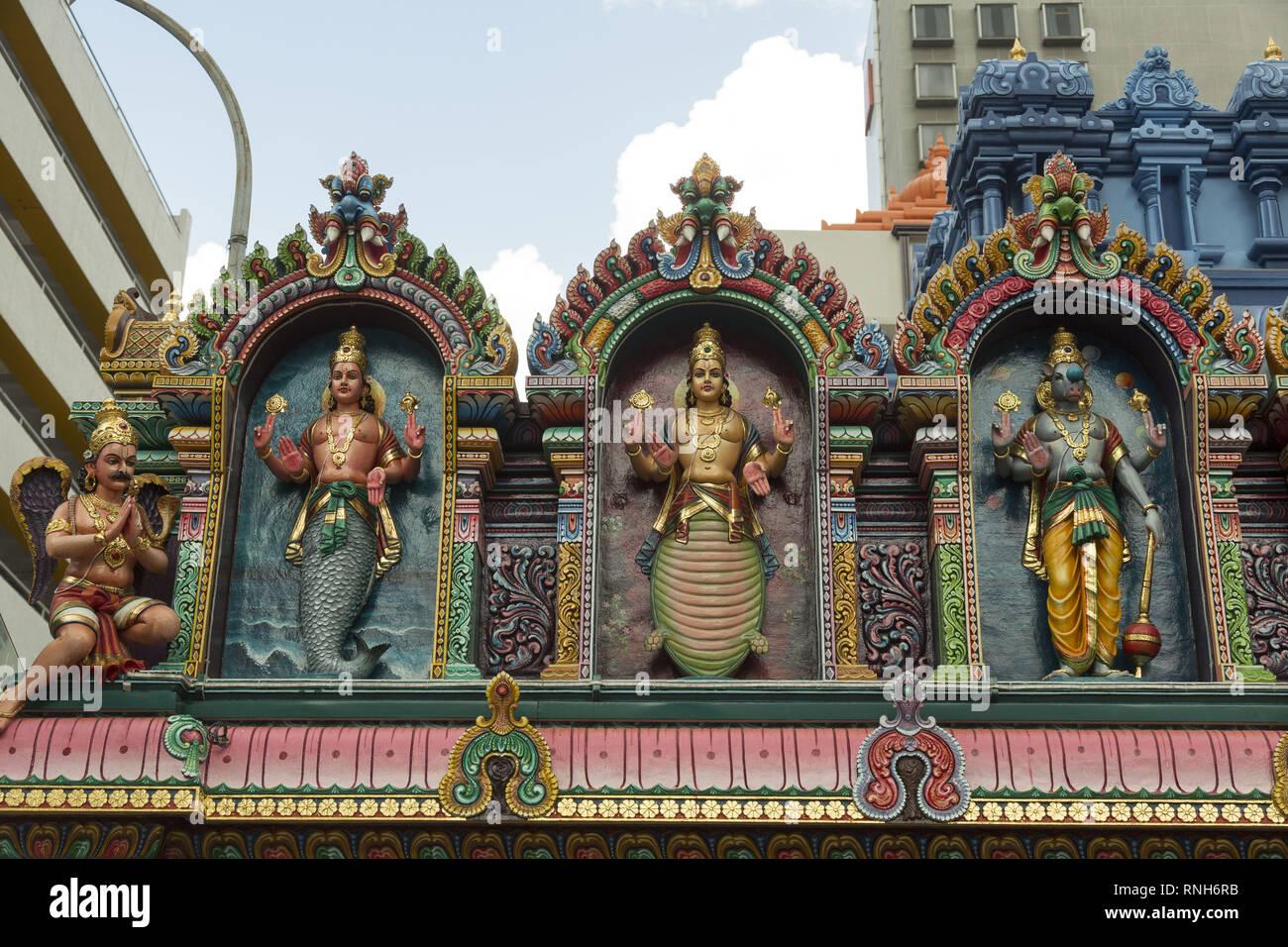Hindu-Tempel in Singapur Stockfoto