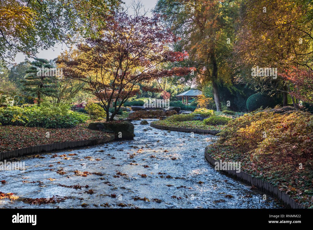 Der Japanische Garten In Einem Europäischen Garten In Augsburg