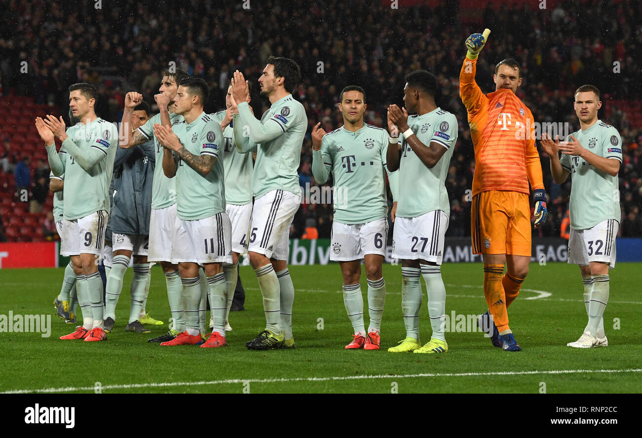 Liverpool Grossbritannien 19 Feb 2019 Fussball Champions
