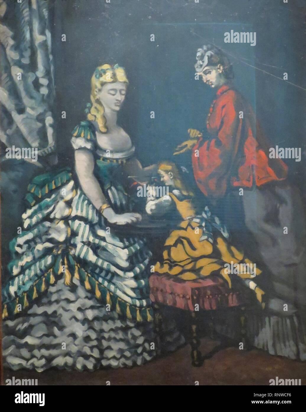 Cezanne - Interieur. Stockbild