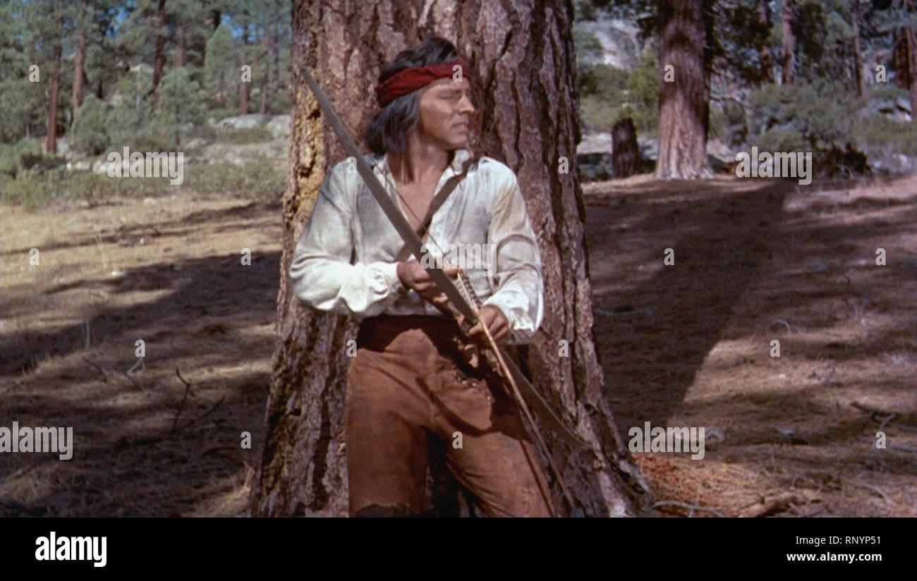 Prod DB © Hecht-Lancaster Produktionen/DR BRONCO APACHE APACHE de Robert Aldrich USA 1954 Burt Lancaster Western; Indien; Indische d'Apres Le roman de Stockbild