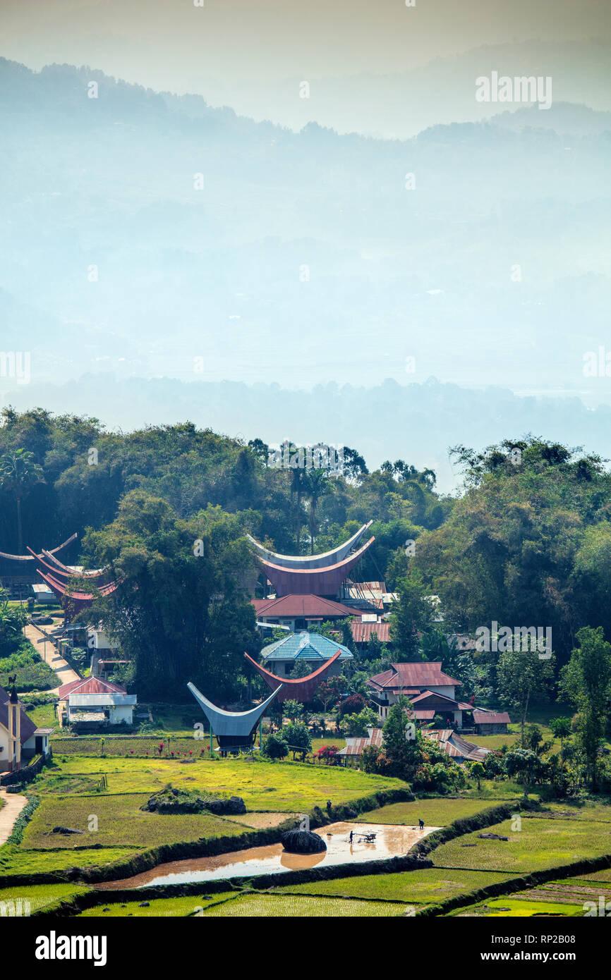 Indonesien, Sulawesi, einem Dorf in Tana Toraja Stockbild